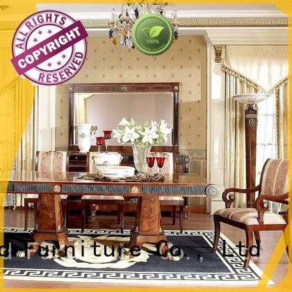 Senbetter modern dining room table sets with chairs for villa