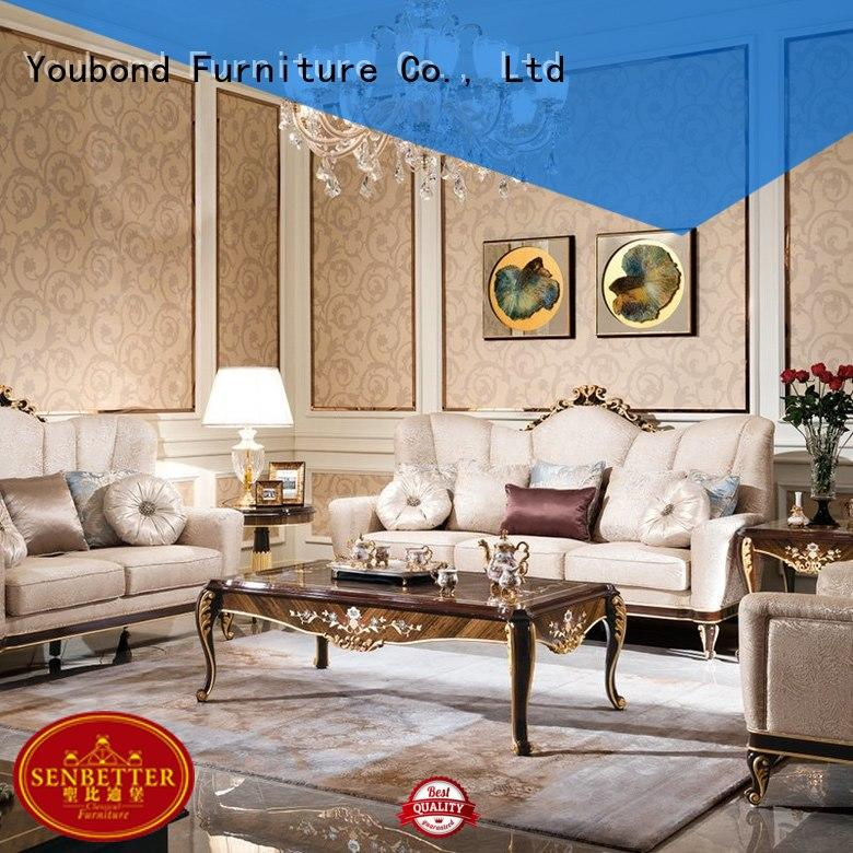 top living room furniture online with flower carving for hotel