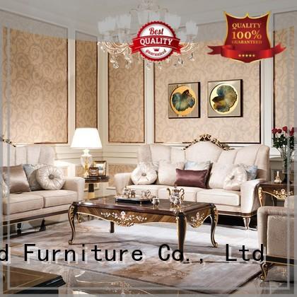 wood white classic living room furniture sofa Senbetter Brand