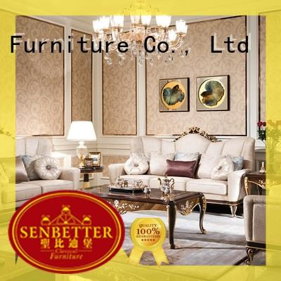 Senbetter elegant style living room furniture chairs with mirror of buffet for villa