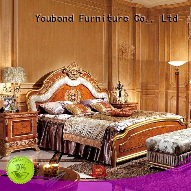 Custom simple beech solid wood bedroom furniture