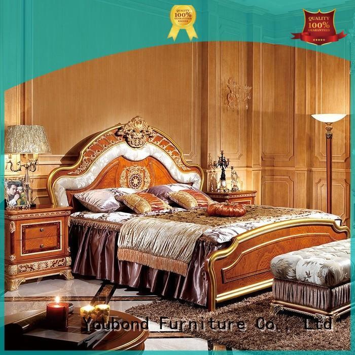 Senbetter luxury bedroom furniture with white rim for decoration