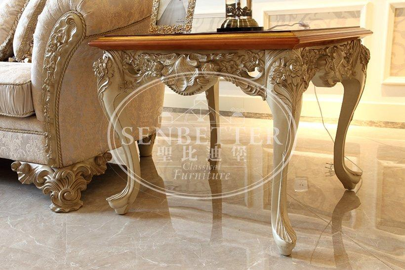 classic living room furniture chairs with mirror of buffet for villa-1