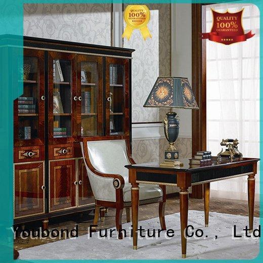 Custom classic office furniture gold wood
