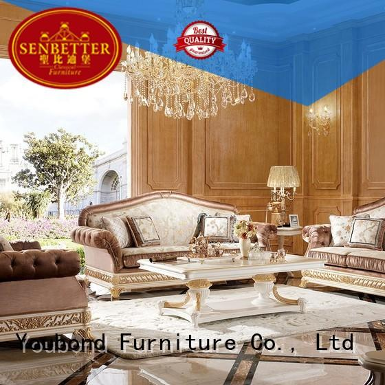 white living room furniture luxury Senbetter Brand classic living room furniture