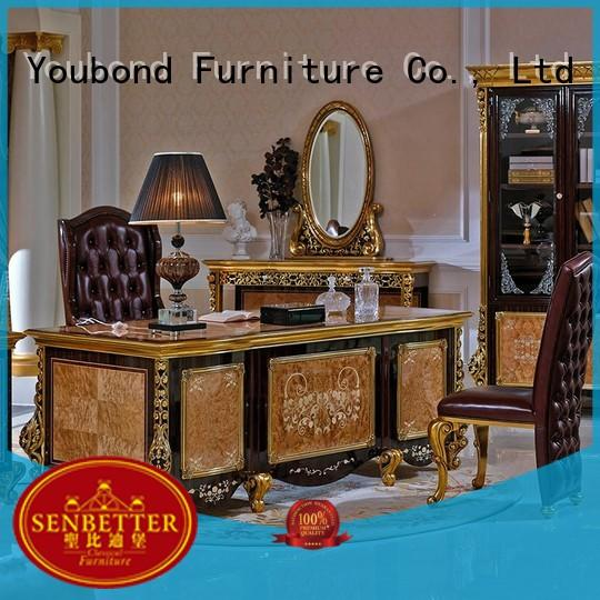 desk furniture wood carved classic office furniture manufacture
