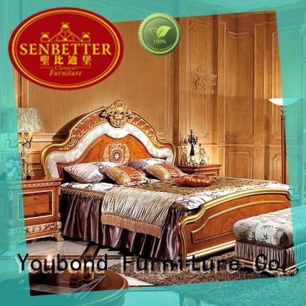 luxury western bedroom furniture supply for royal home and villa
