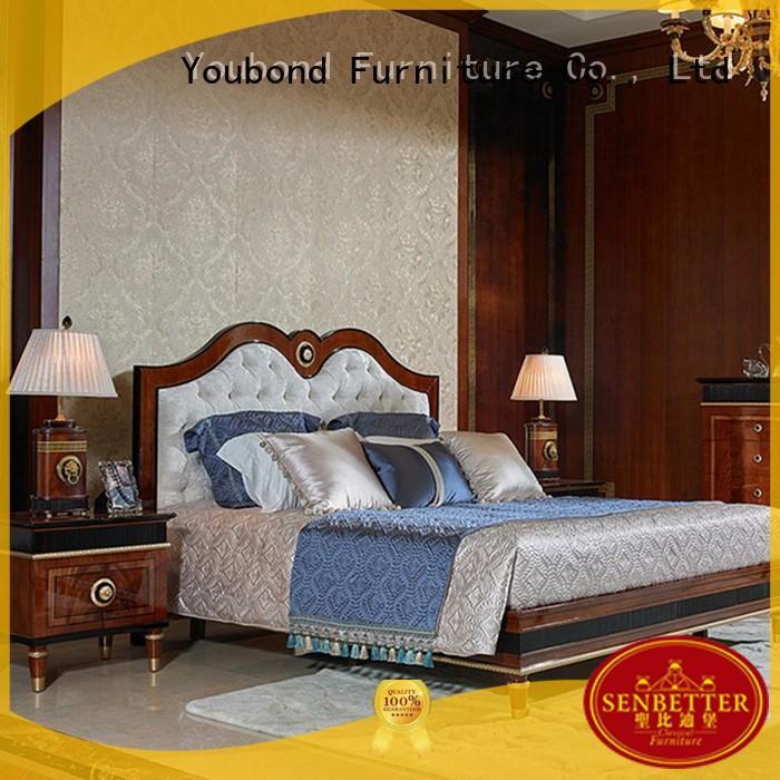 Senbetter veneer wooden bedroom furniture factory for decoration