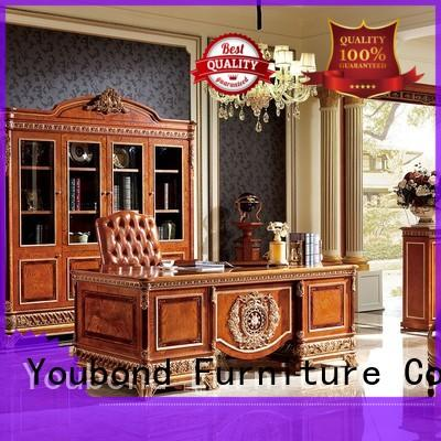 beech home office furniture sets with office chair for villa