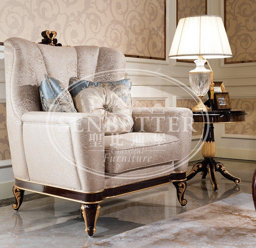 elegant style living room table sets for sale with flower carving for living room-3