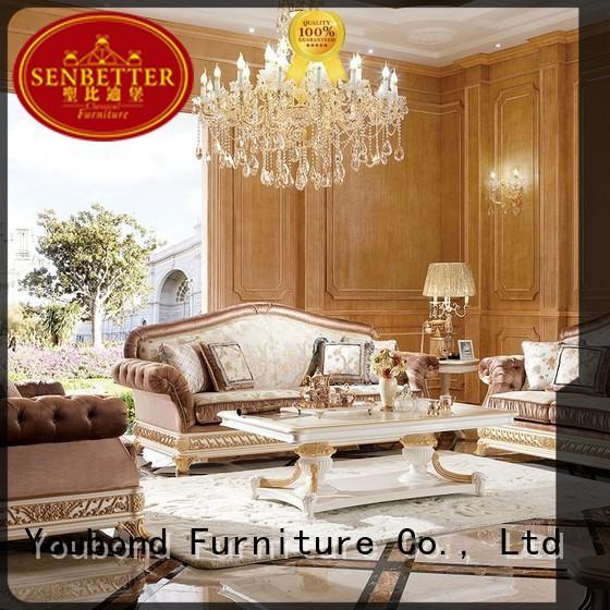 Senbetter classical all white living room set hot sale for living room
