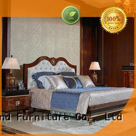 Senbetter european classic bedroom furniture with shiny brass accessory decoration for decoration