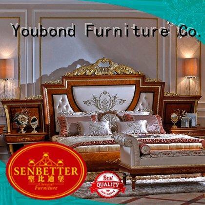 oak bedroom furniture design Senbetter Brand solid wood bedroom furniture
