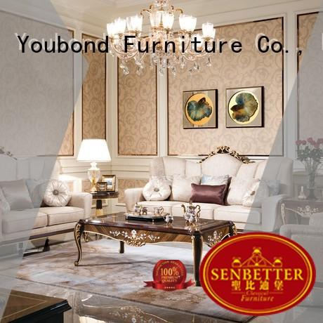 Senbetter living room furniture bundles with solid wood chair for hotel