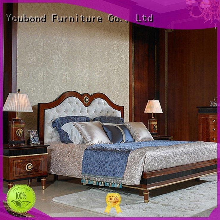 Senbetter Brand solid design veneer solid wood bedroom furniture mahogany
