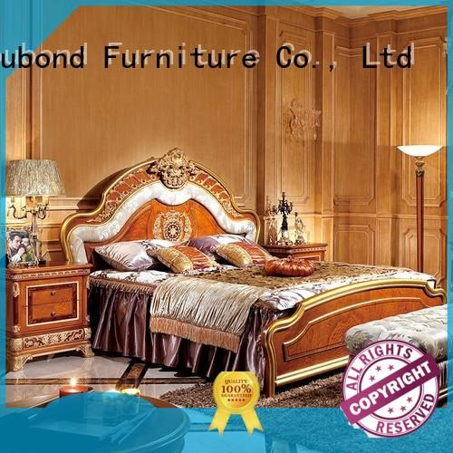 Luxury Royal Europe Classic Style Beech Solid Wood Bedroom Furniture 0062