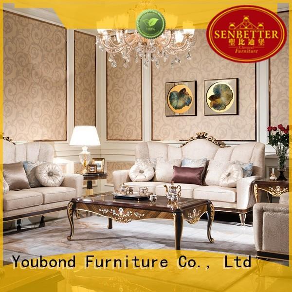 Custom white classic living room furniture italian Senbetter