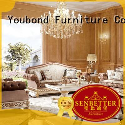 Senbetter formal living room furniture sets with fabric or leather sofa for hotel