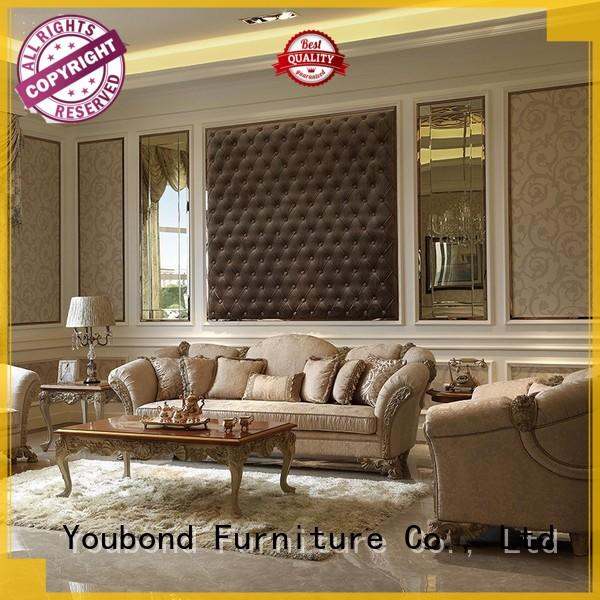 Senbetter lounge room furniture packages with brass accessory for home