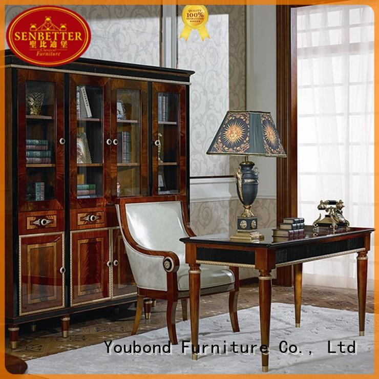 Senbetter royal home study furniture with office writing desk for company