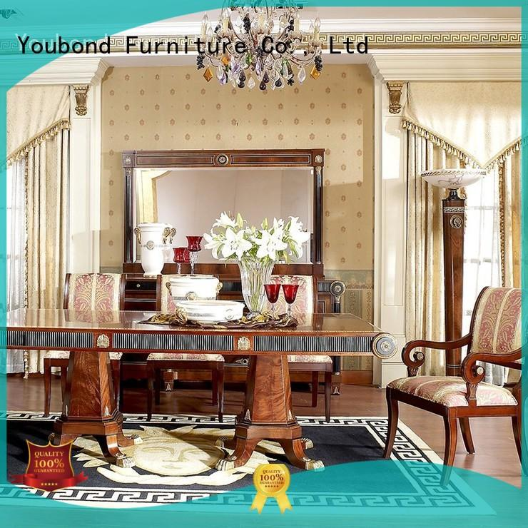 Senbetter dining room table sets with wooden table for villa