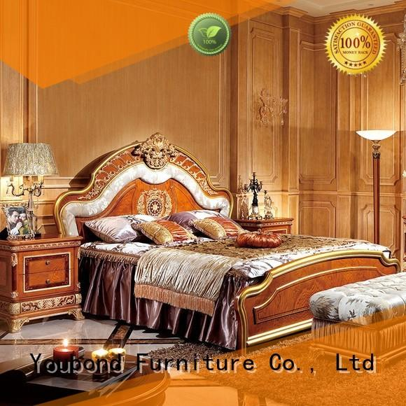 Senbetter european cherry wood bedroom furniture with white rim for decoration