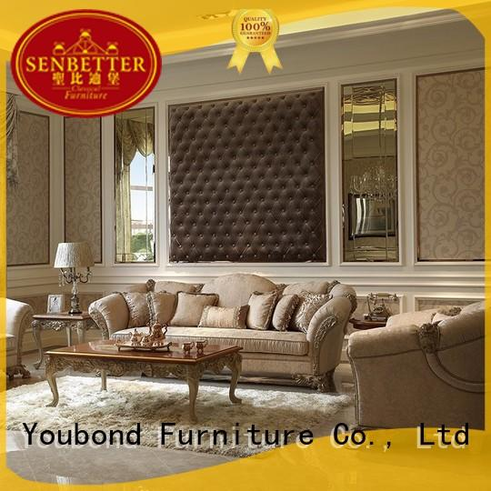 Senbetter home furniture living room with fabric or leather sofa for villa