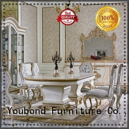 European Elegant Classic Luxury Wooden Dining Room Fruniture Set For Villa 0067