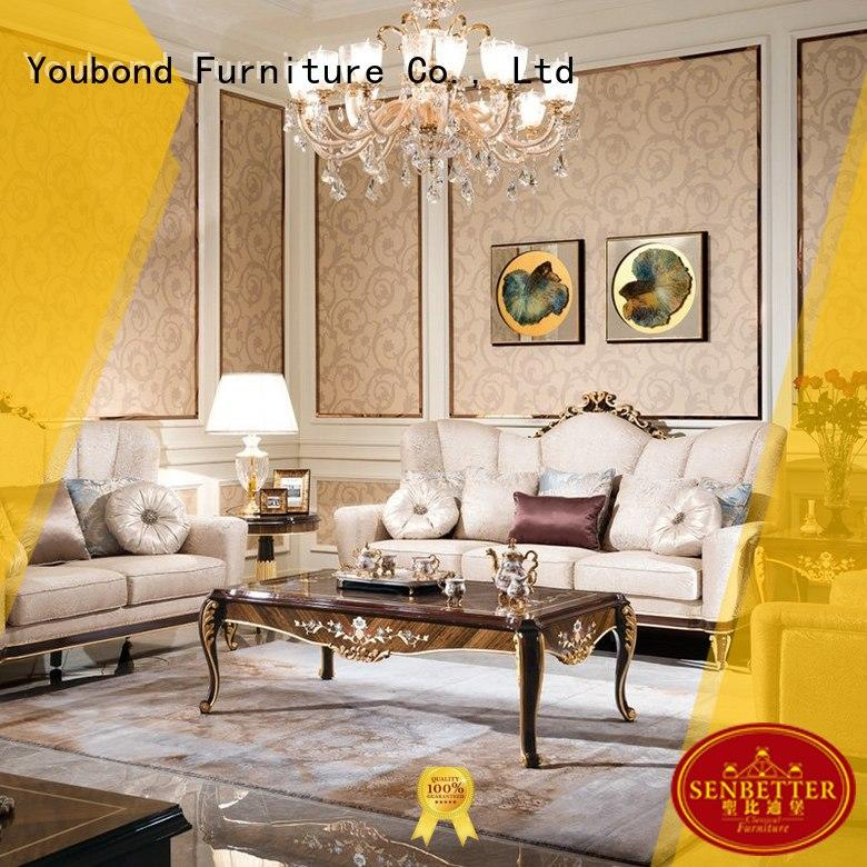 luxury classic living room furniture with buffet for home