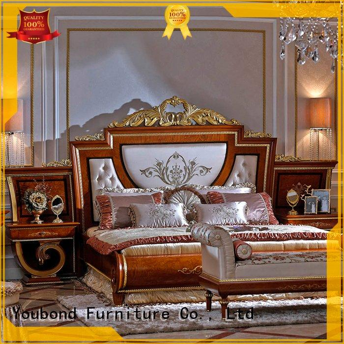 Senbetter style wood classic oak bedroom furniture solid