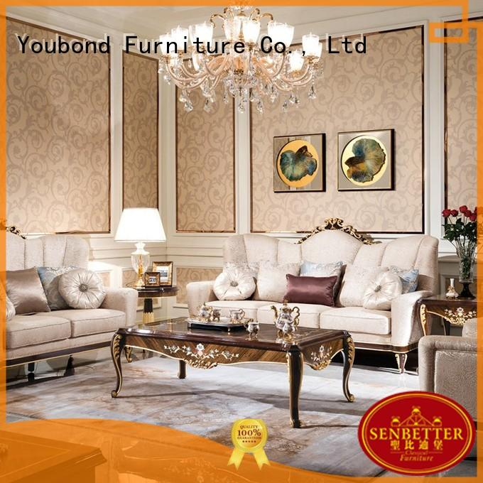 Senbetter living room furniture packages with mirror of buffet for villa
