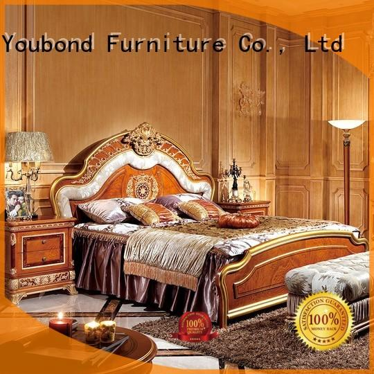 Senbetter full size bedroom furniture with white rim for royal home and villa