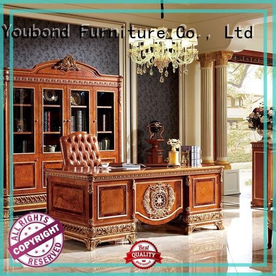 Senbetter antique home office desk cabinet with office writing desk for villa