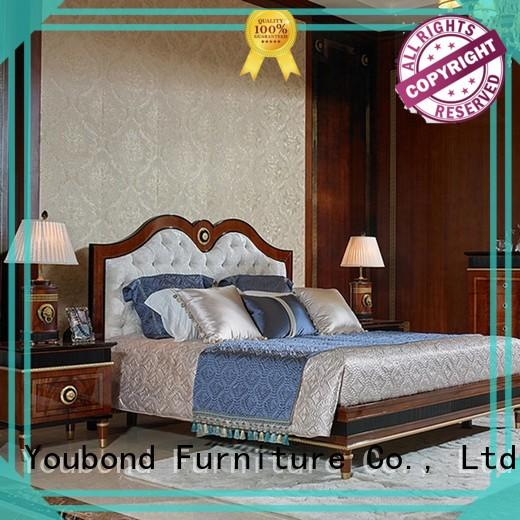 Senbetter vintage bedroom furniture with solid wood table and chairs for royal home and villa