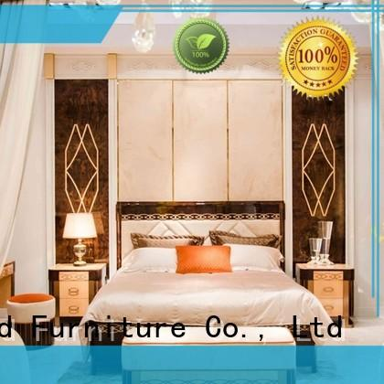 Senbetter luxury antique bedroom furniture with shiny brass accessory decoration for sale