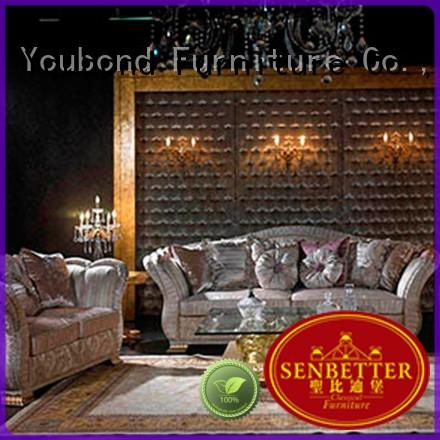 Senbetter buffet luxury living room furniture fabric or leather sofa for living room