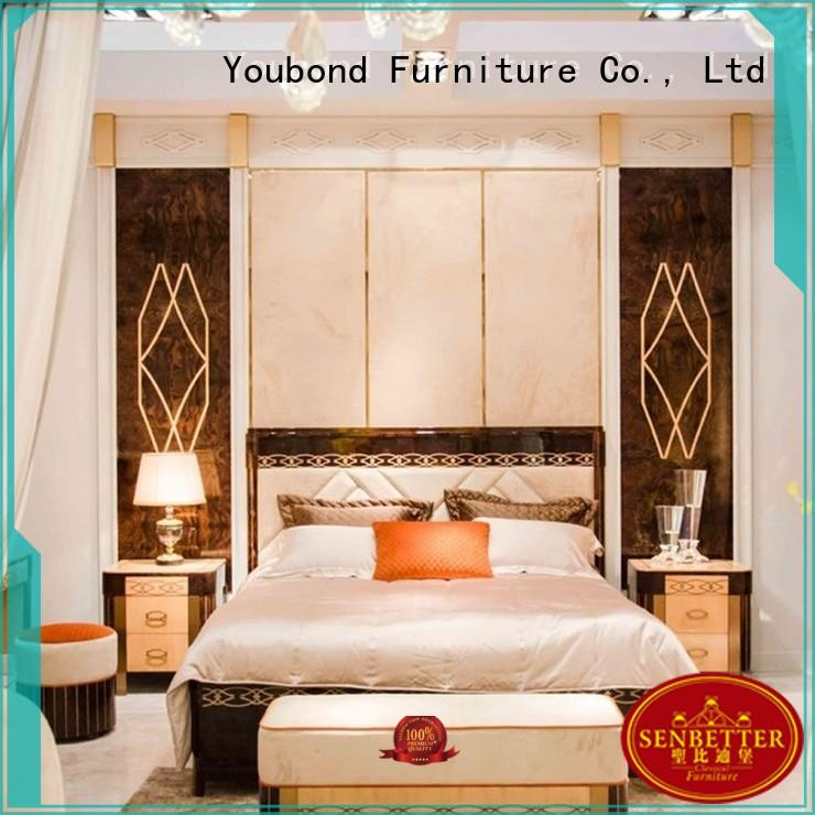 Senbetter mahogany wooden bedroom furniture with chinese element for sale