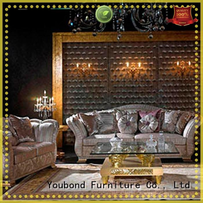 Senbetter 5 piece living room set with chinese element for villa