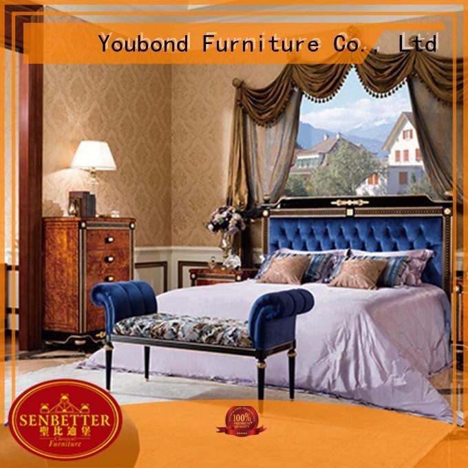 Senbetter classic italian bedroom furniture with white rim for decoration