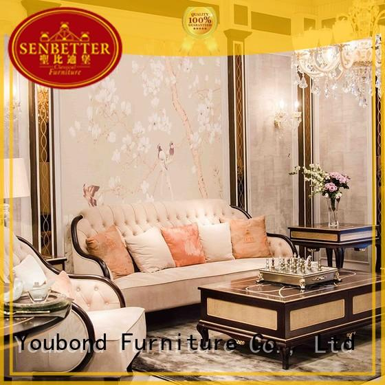 Senbetter european living sofa set mirror of buffet for villa