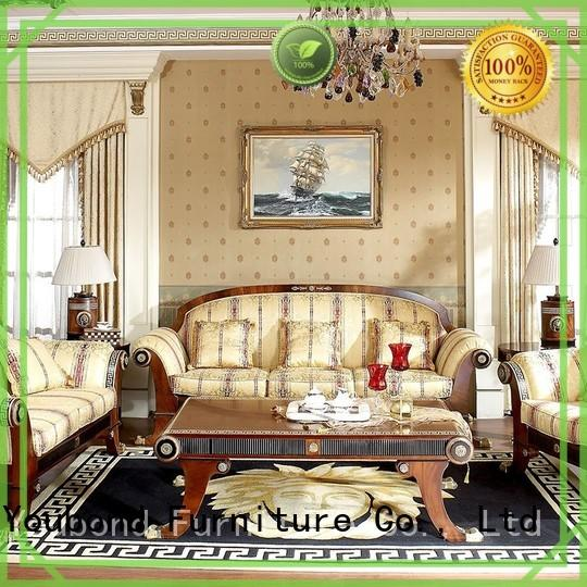 Senbetter top living room sofa with flower carving for villa