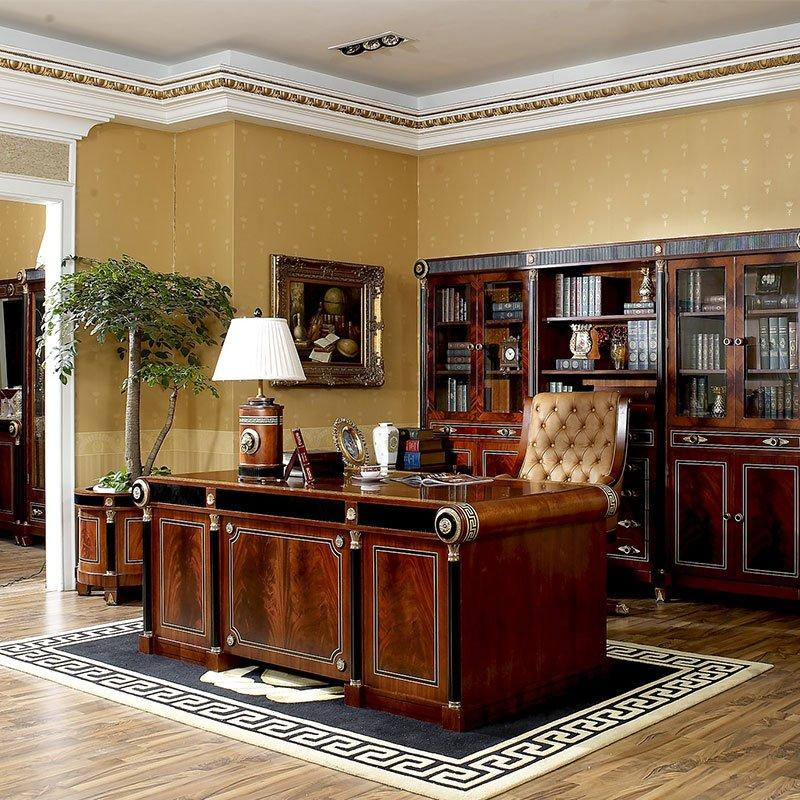 Quality Wooden Office Room Furniture Desk Antique Beech Classic Style 0010