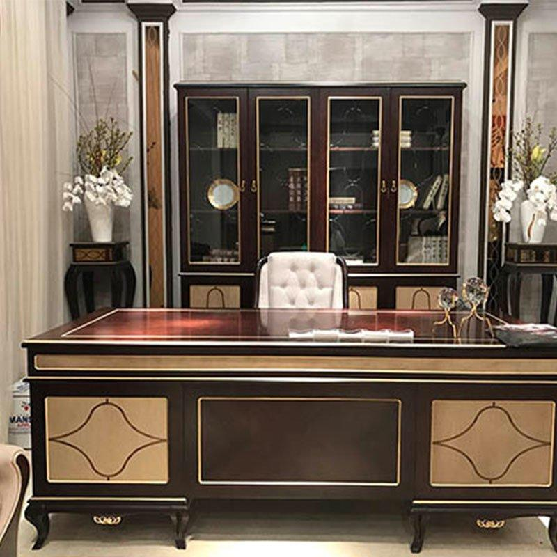 Wholesale High End European Neo-classic Office Furniture Set 0071