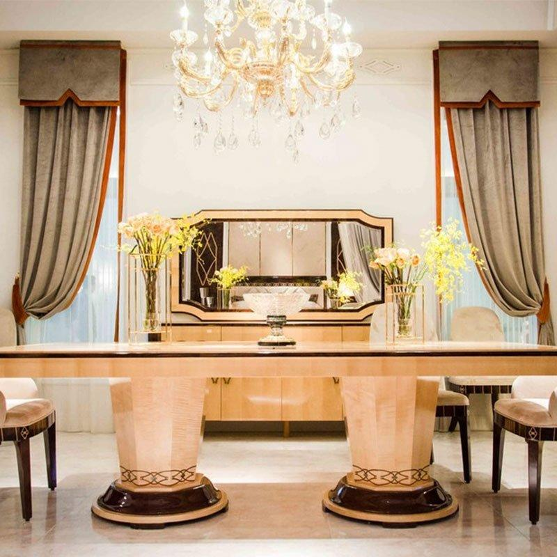 New Design High Gloss Elegant Style Royal Classic Dining Room Furniture 0072