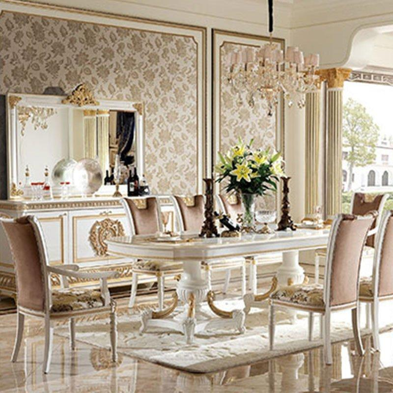 Clic Style Hand Carving Dining Table