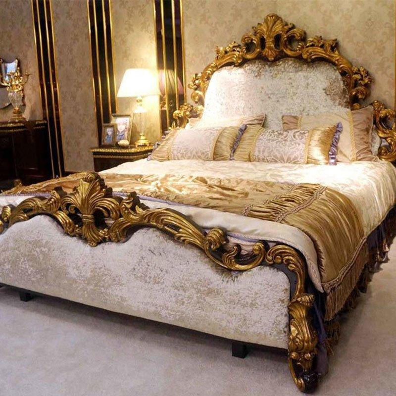 Luxury Italian Classic Style Bedroom Furniture Design For Royal Home And Villa 0063