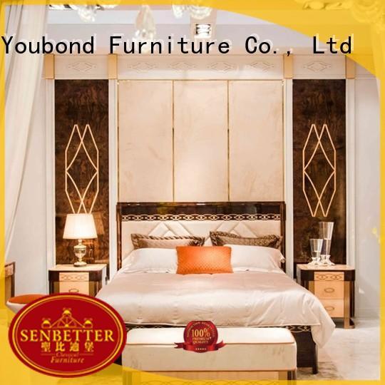 Custom mahogany simple classic bedroom furniture Senbetter wood
