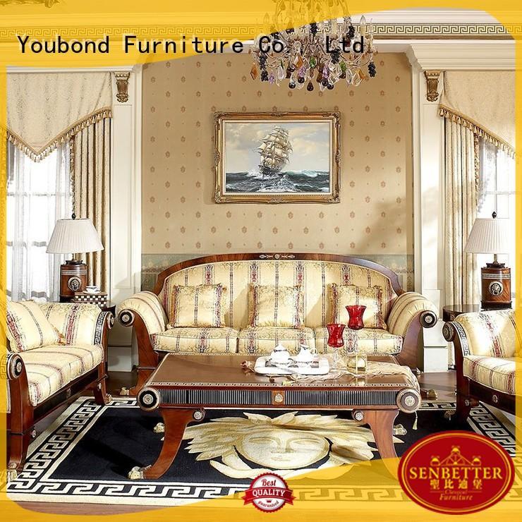 flower classic living Senbetter Brand white living room furniture factory