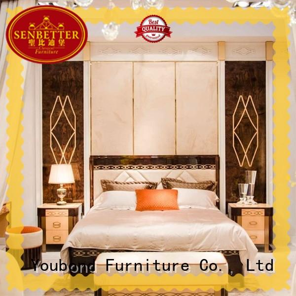 Senbetter newly modern contemporary bedroom sets with solid wood table and chairs for decoration