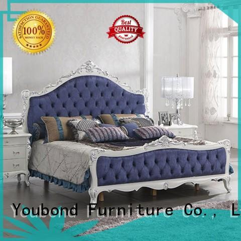 Senbetter high end upscale bedroom furniture with white rim for decoration